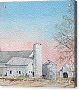 Barn And Sycamore Acrylic Print