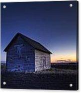Barn At Sunset, Fort Saskatchewan Acrylic Print