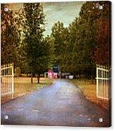 Barn Behind The Gate Acrylic Print