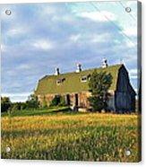 Barn In A Golden Field Acrylic Print