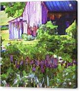 Barn In The Hollow Acrylic Print by Suni Roveto