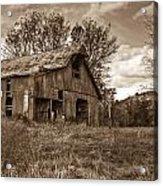 Barn In Turbulent Sky Acrylic Print by Douglas Barnett