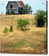 Barn On A Hill Acrylic Print