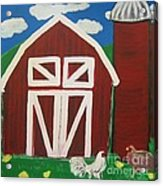 Barn On The Farm Acrylic Print