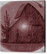 Barn Snow Globe Acrylic Print