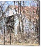 Barn Through Trees Acrylic Print