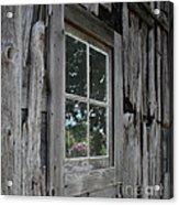 Barn Window Reflection Acrylic Print