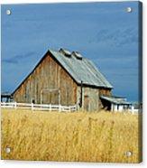 Barn With Stormy Skies Acrylic Print