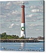 Barnegat Lighthouse - New Jersey - Christmas Card Acrylic Print