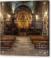 Baroque Church In Savoire France 4 Acrylic Print