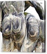 Baroque Statue - Detail - Backside Acrylic Print by Michal Boubin
