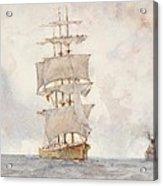 Barque And Tug Acrylic Print