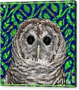 Barred Owl In A Fractal Tree Acrylic Print