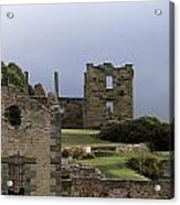 Barred Windows And Stone Ruins At Port Acrylic Print by Jason Edwards