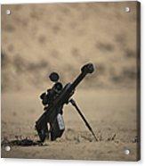 Barrett M82a1 Rifle Sits Ready Acrylic Print