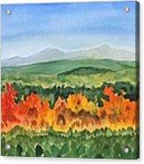 Barton Vermont Autumn Acrylic Print