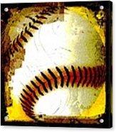 Baseball Abstract Acrylic Print