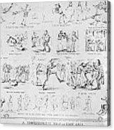 Baseball Cartoons, 1859 Acrylic Print