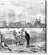 Baseball: England, 1874 Acrylic Print