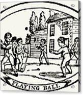 Baseball Game, 1820 Acrylic Print