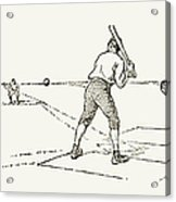 Baseball Game, 1889 Acrylic Print
