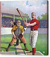 Baseball Game, C1895 Acrylic Print