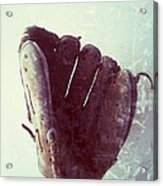 Baseball Glove Vertical Acrylic Print