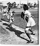 Baseball, Kenosha Comets Play Acrylic Print by Everett