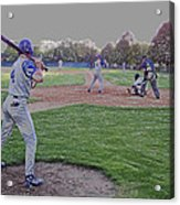 Baseball On Deck Digital Art Acrylic Print