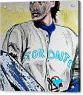 Baseball Player Acrylic Print by First Star Art