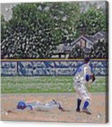 Baseball Playing Hard Digital Art Acrylic Print