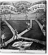 Baseball Polka, 1867 Acrylic Print