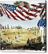 Baseball Song Sheet, 1860 Acrylic Print