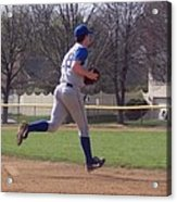 Baseball Step And Throw From Third Base Acrylic Print