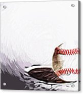 Baseball Acrylic Print by Tilly Williams