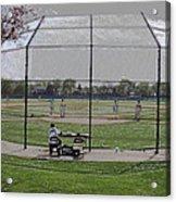 Baseball Warm Ups Digital Art Acrylic Print