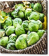 Basket Of Brussels Sprouts Acrylic Print
