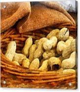 Basket Of Peanuts Acrylic Print