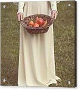 Basket With Fruits Acrylic Print