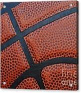 Basketball - Leather Close Up Acrylic Print