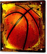 Basketball Abstract Acrylic Print by David G Paul