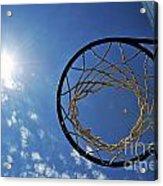 Basketball Hoop And The Sun Acrylic Print