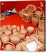 Basketwork Acrylic Print