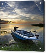 Bass Fishin' Evening Acrylic Print