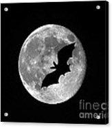 Bat Moon Acrylic Print