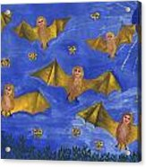 Bat People At The Pipistrelle Party Acrylic Print
