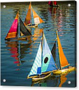 Bateaux Jouets Acrylic Print by Beth Riser