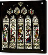 Bath Abbey Stained Glass Acrylic Print