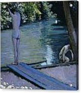 Bather About To Plunge Into The River Yerres Acrylic Print