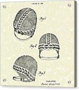 Bathing Cap 1936 Patent Art Acrylic Print by Prior Art Design